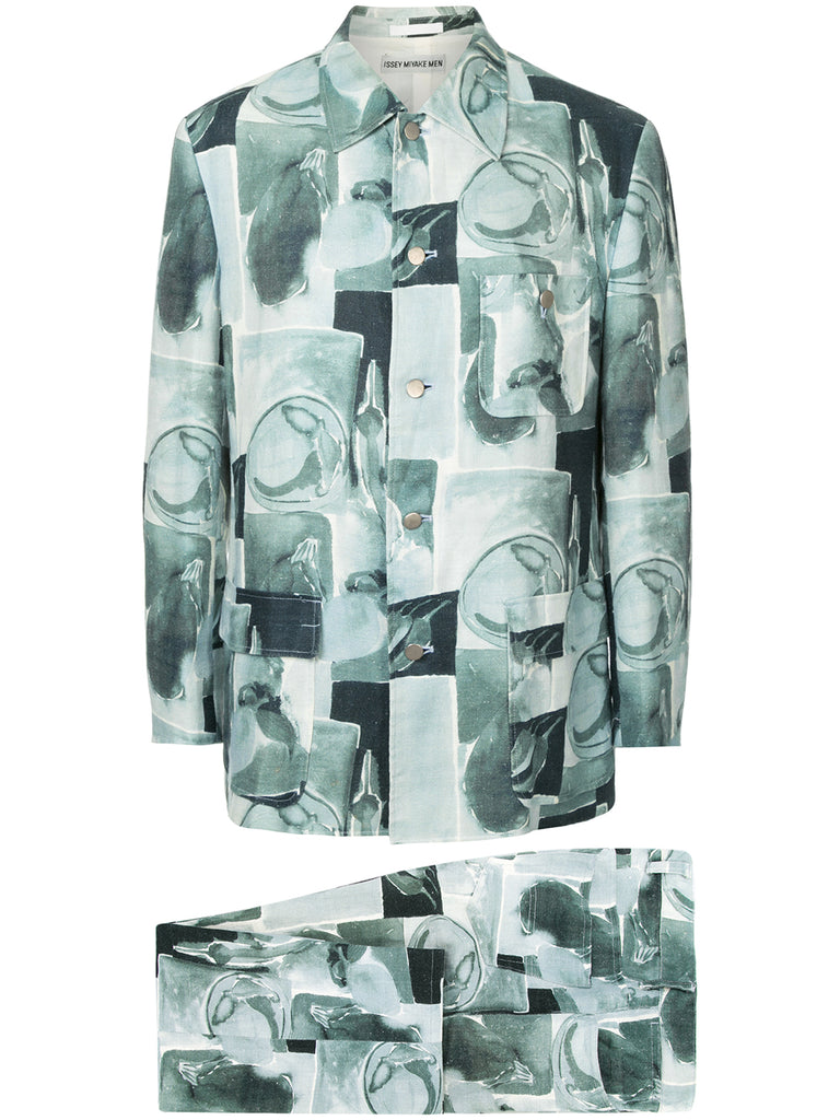 ISSEY MIYAKE paint print suit