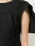 YOHJI YAMAMOTO over the shoulder flap dress