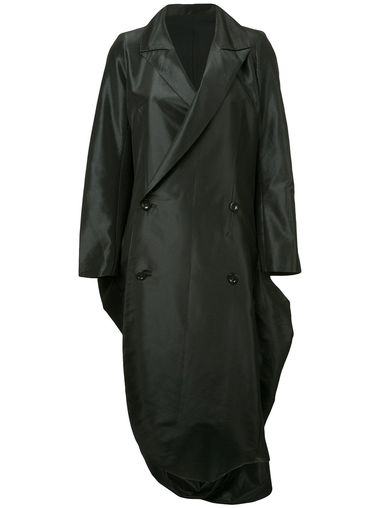 YOHJI YAMAMOTO bell bottom double breasted coat