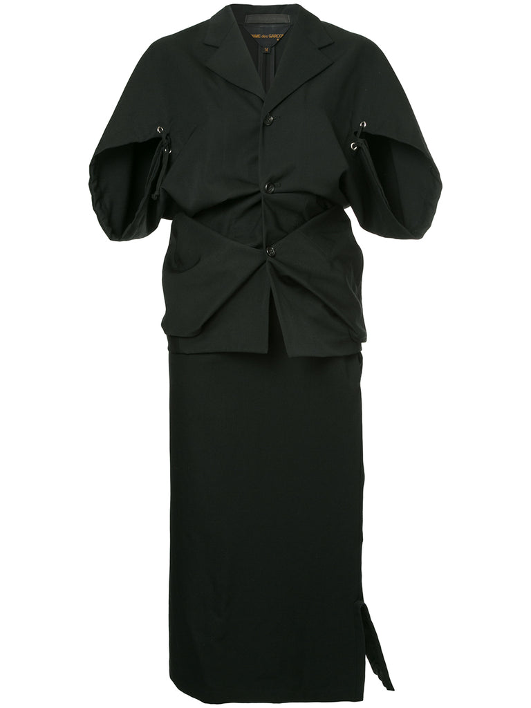 COMME DES GARÇONS abstract folds jacket / skirt suit