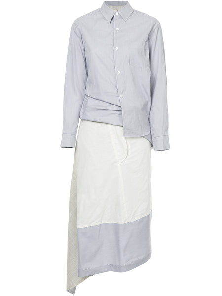 COMME DES GARÇONS deconstructed striped shirt dress