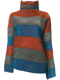 ISSEY MIYAKE colour-block striped sweater