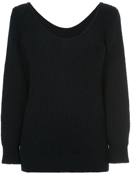 COMME DES GARÇONS ribbed fitted sweater