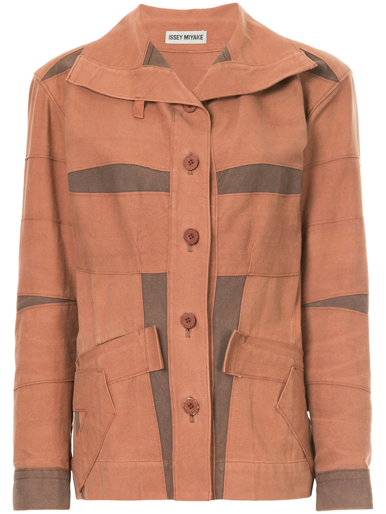 ISSEY MIYAKE colour-block fitted jacket