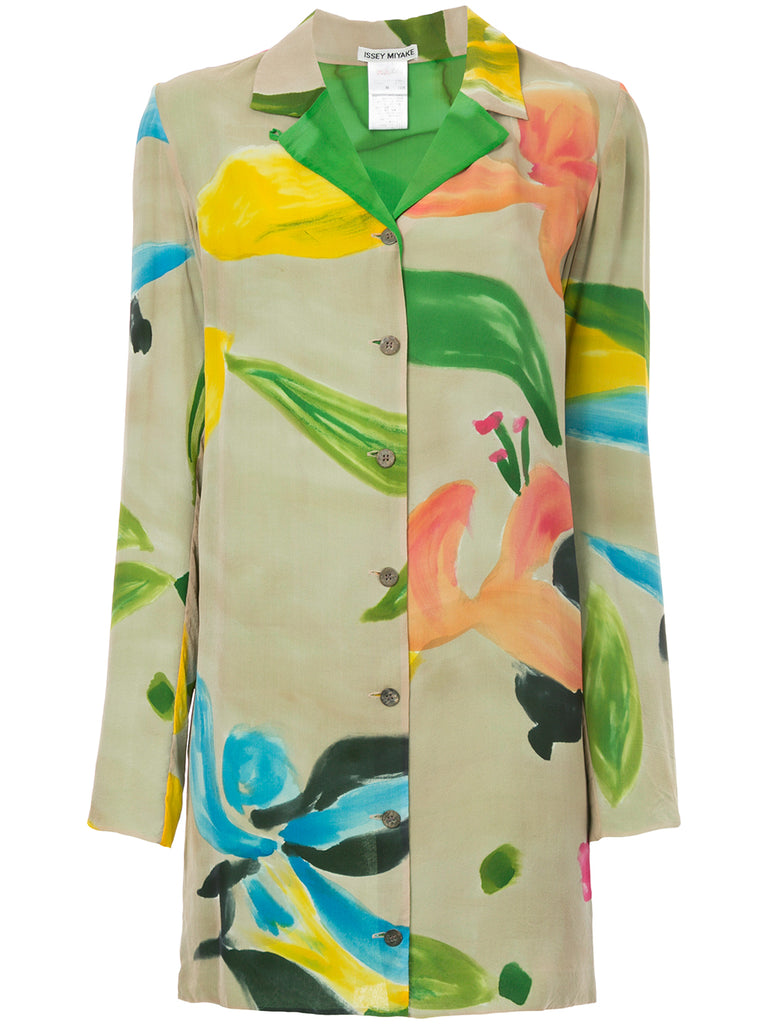 ISSEY MIYAKE floral fitted shirt