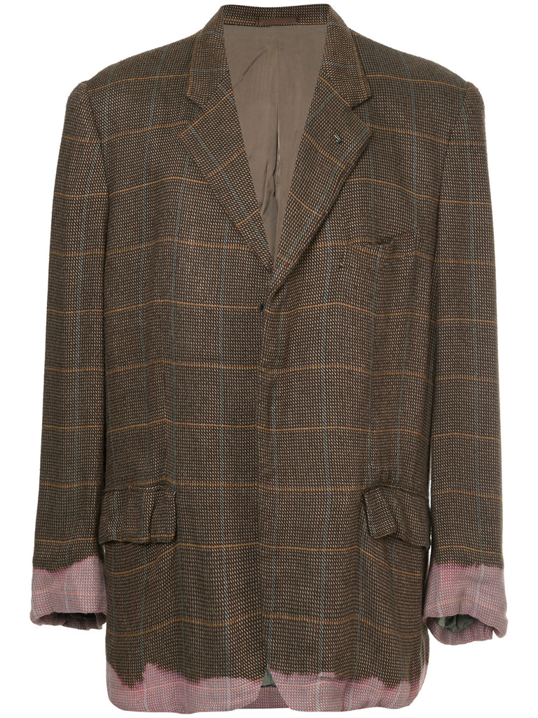 COMME DES GARÇONS Homme Plus dip-dyed oversized checked blazer