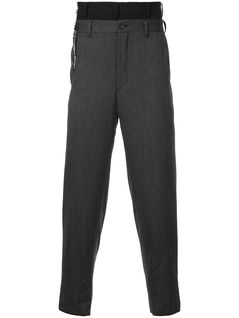 COMME DES GARÇONS layered tailored trousers