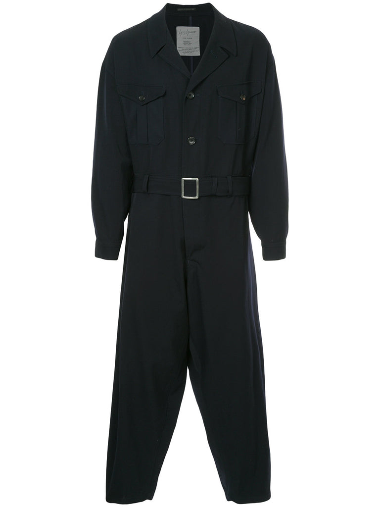 YOHJI YAMAMOTO Pour Homme belted jumpsuit