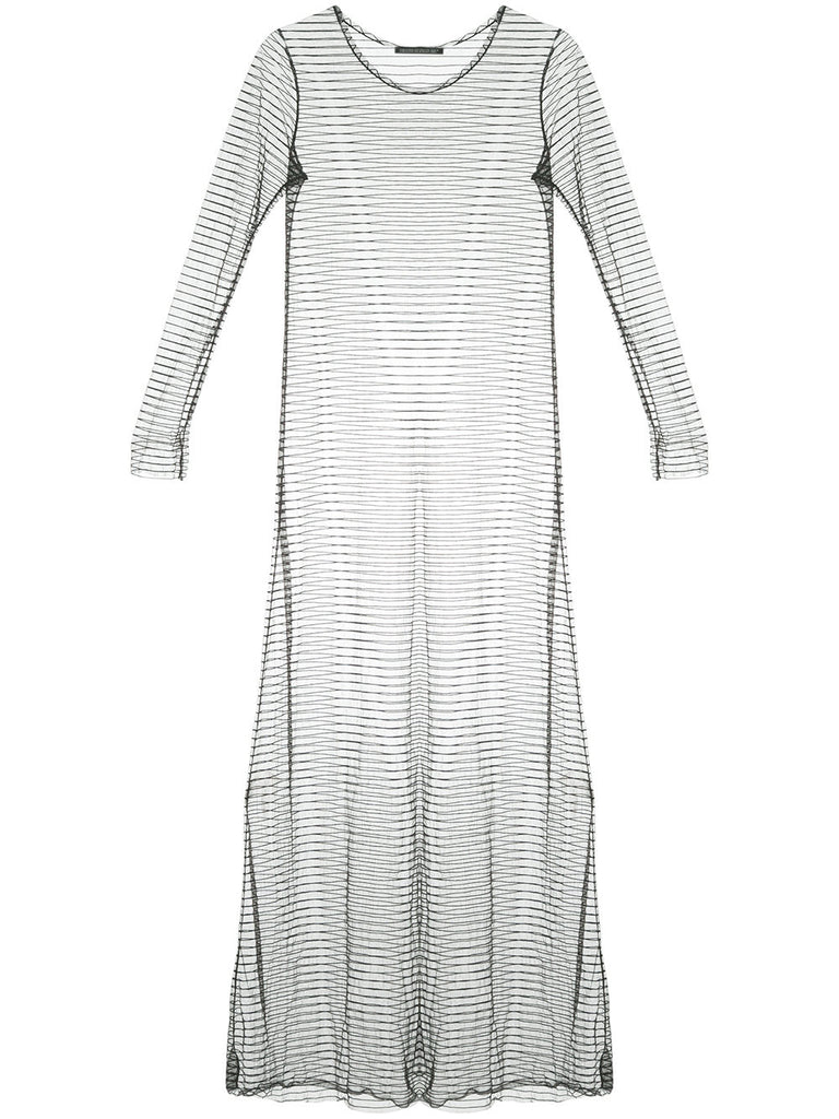YOHJI YAMAMOTO sheer striped dress
