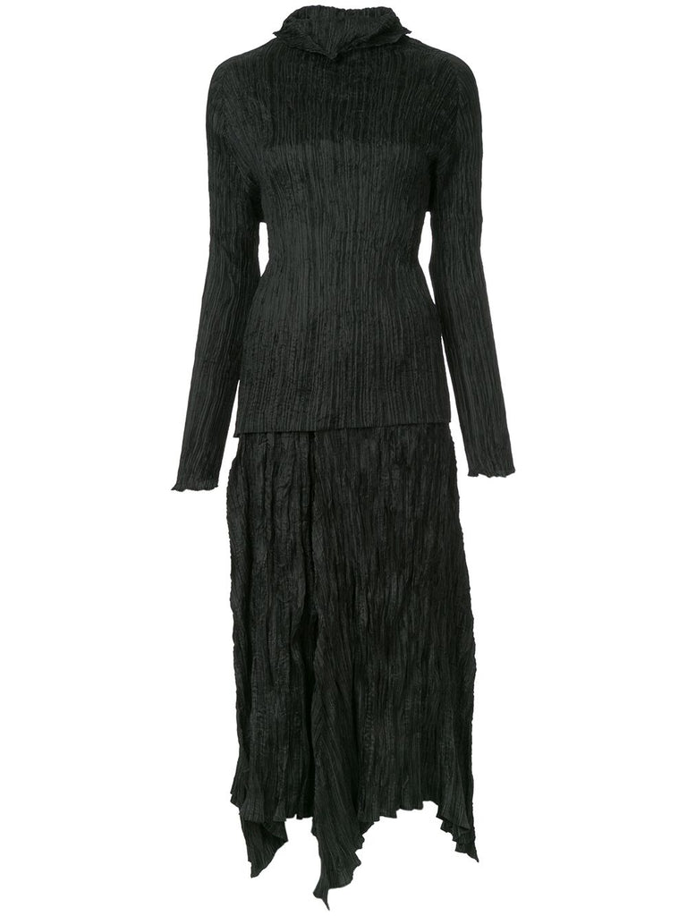 ISSEY MIYAKE pleated skirt suit