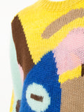 WALTER VAN BEIRENDONCK abstract knitted jumper