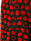 WALTER VAN BEIRENDONCK W & LT flocked pattern miniround dress