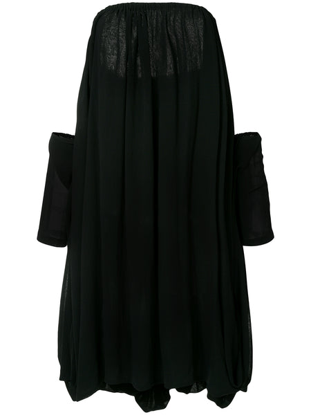 YOHJI YAMAMOTO off-shoulder flared dress