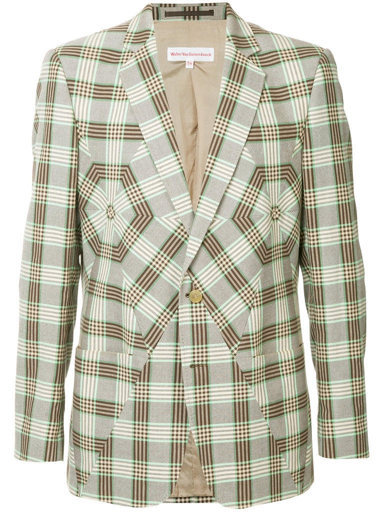 WALTER VAN BEIRENDONCK checked panel blazer