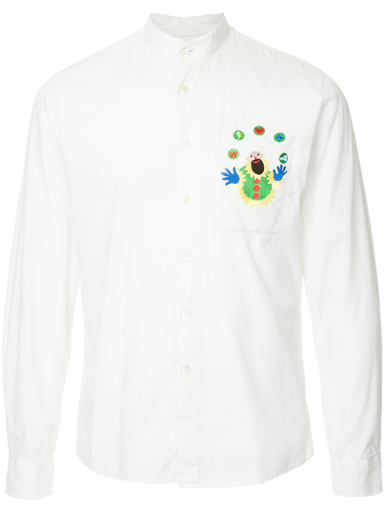 WALTER VAN BEIRENDONCK appliqué pocket shirt