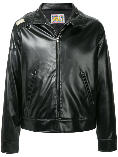 WALTER VAN BEIRENDONCK W & LT faux leather jacket