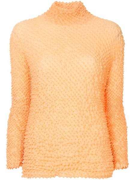 ISSEY MIYAKE long-sleeve texture pleated top