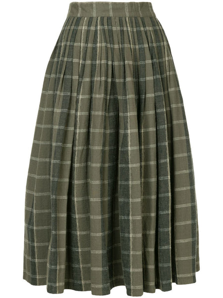 ISSEY MIYAKE pleated flannel skirt
