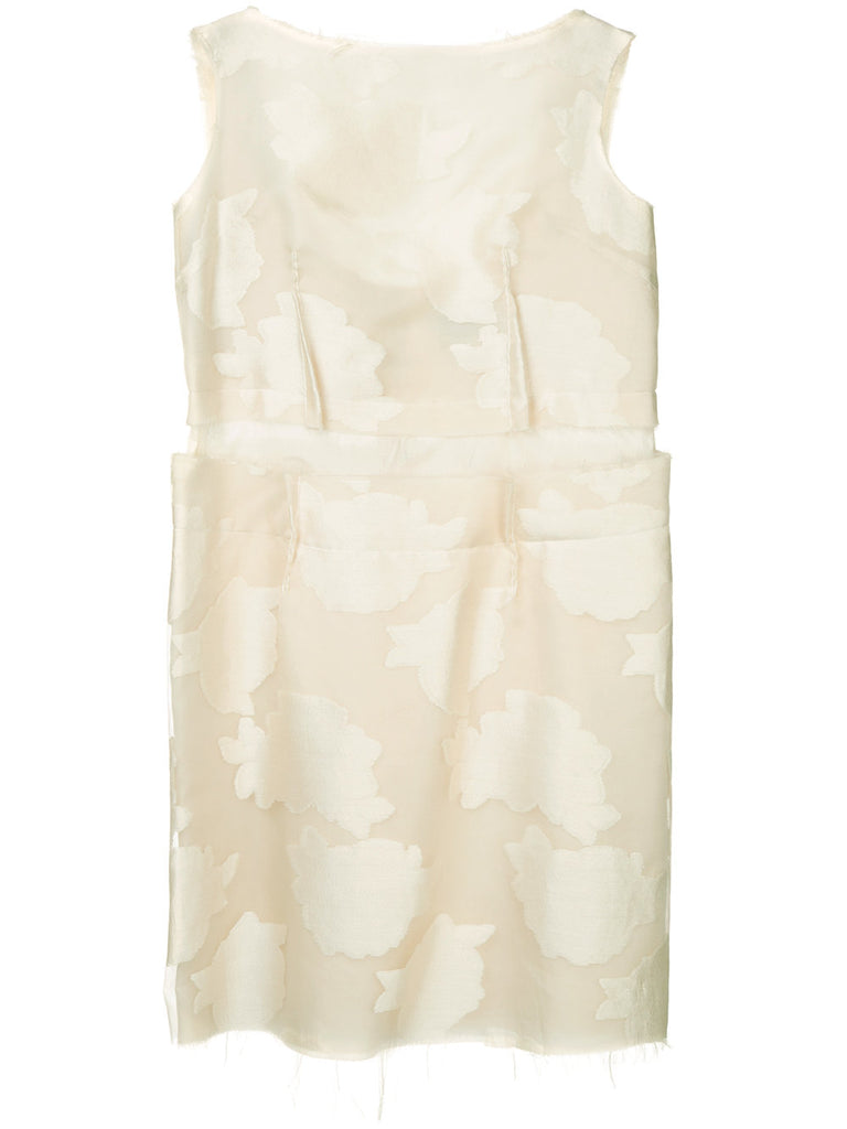 COMME DES GARÇONS frayed embroidered sleeveless dress