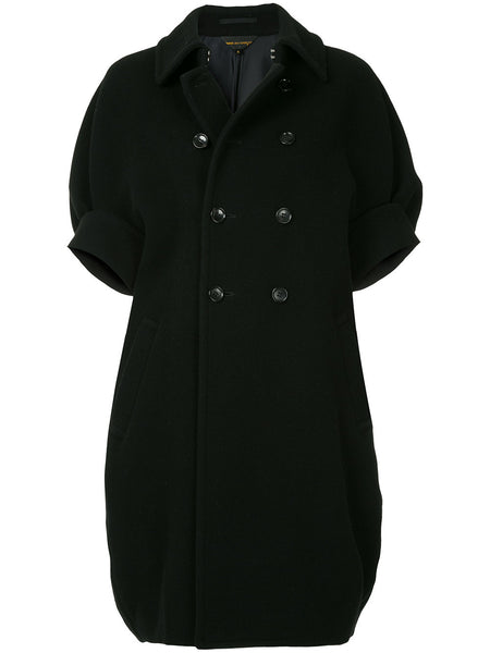COMME DES GARÇONS short-sleeve double breasted coat