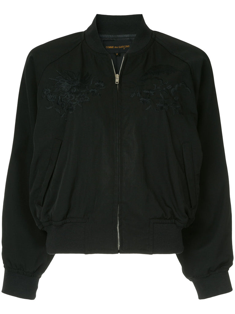 COMME DES GARÇONS zipped fitted bomber jacket
