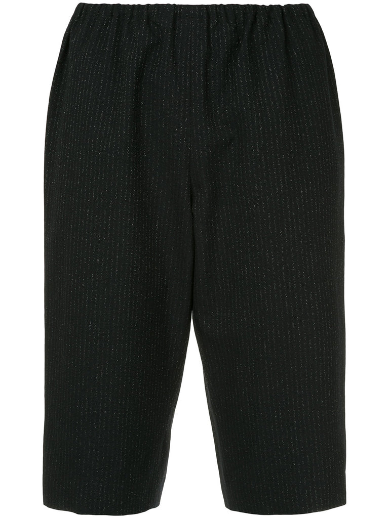 COMME DES GARÇONS pin-stripe fitted shorts