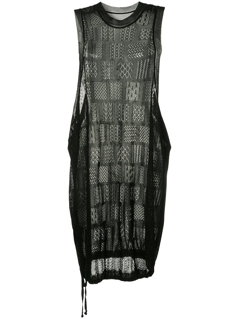 YOHJI YAMAMOTO sleeveless embroidered dress
