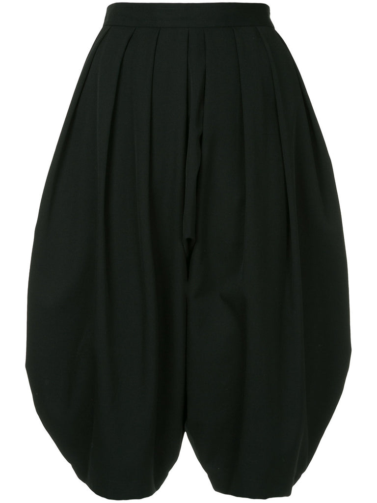 COMME DES GARÇONS flared pleated cropped trousers