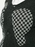 COMME DES GARÇONS check contrast fitted cardigan
