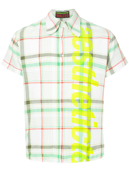 WALTER VAN BEIRENDONCK Aesthetic Terrorists plaid shirt