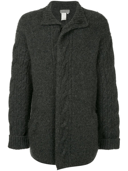 YOHJI YAMAMOTO Pour Homme knitted button up coat
