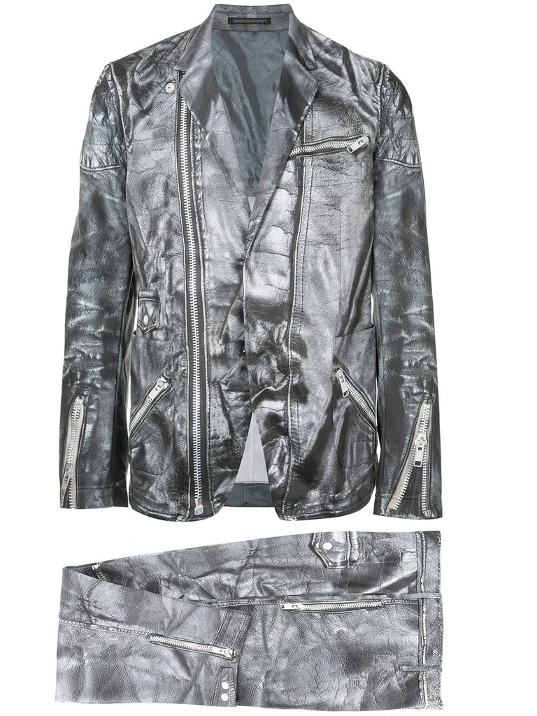 YOHJI YAMAMOTO Pour Homme leather print suit