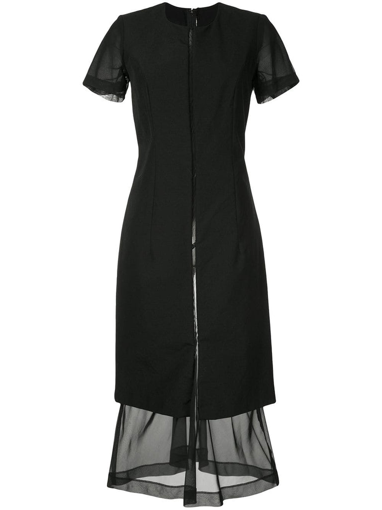 COMME DES GARÇONS dissected sheer panel dress