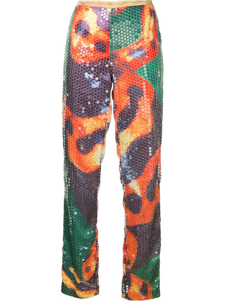 WALTER VAN BEIRENDONCK sequinned trousers