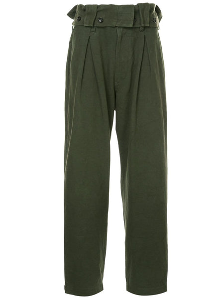 YOHJI YAMAMOTO high waisted pleated trousers
