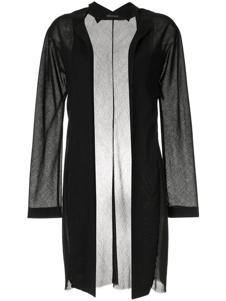 YOHJI YAMAMOTO sheer elongated open jacket