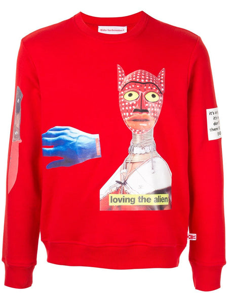 WALTER VAN BEIRENDONCK Loving the Alien sweatshirt