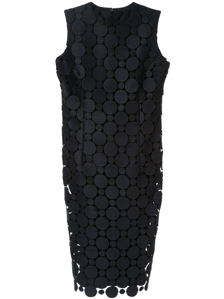 COMME DES GARÇONS embroidered circles dress