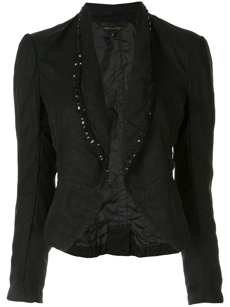 COMME DES GARÇONS sequin embroidered fitted blazer
