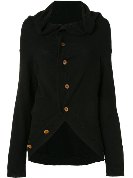 COMME DES GARÇONS knitted draped neck cardigan