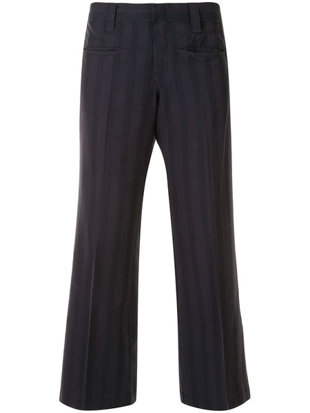 Comme Des Garçons Junya Watanabe striped cropped trousers