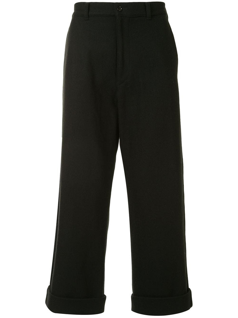 Comme Des Garçons turn-up hems loose-fit trousers