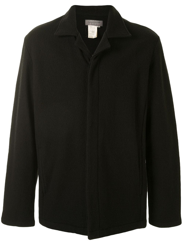 Yohji Yamamoto Pour Homme concealed fastening straight-fit jacket