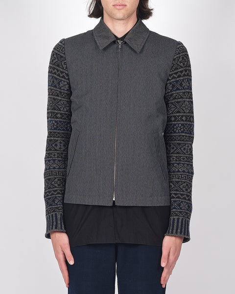 COMME des GARÇONS HOMME PLUS knitted sleeve jacket