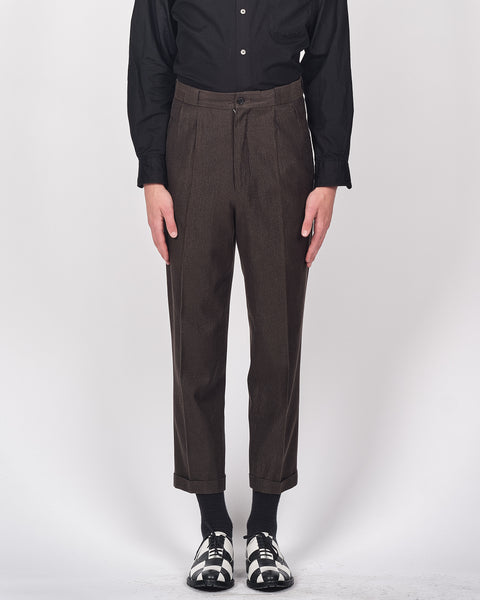Yohji Yamamoto Pour Homme glitter thread trousers