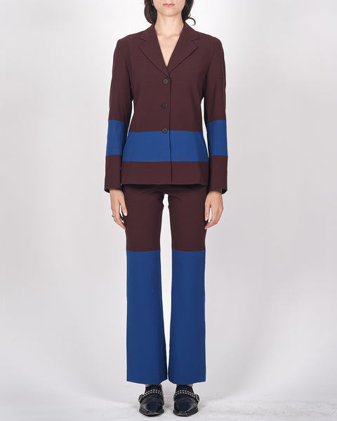 ISSEY MIYAKE colour block suit