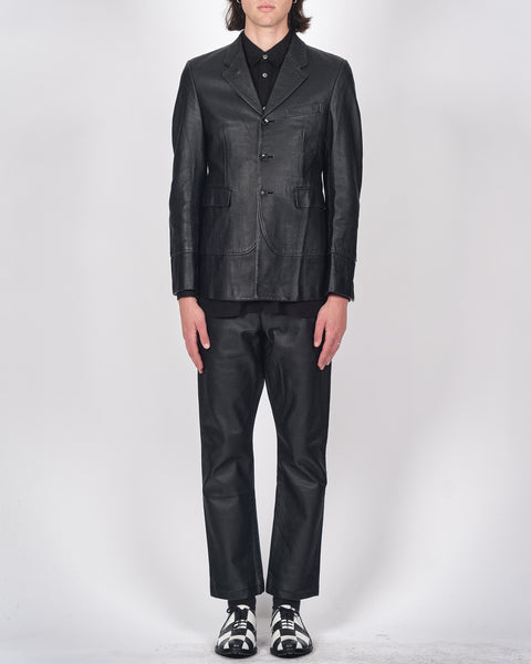 COMME des GARÇONS HOMME PLUS perforated leather stack suit