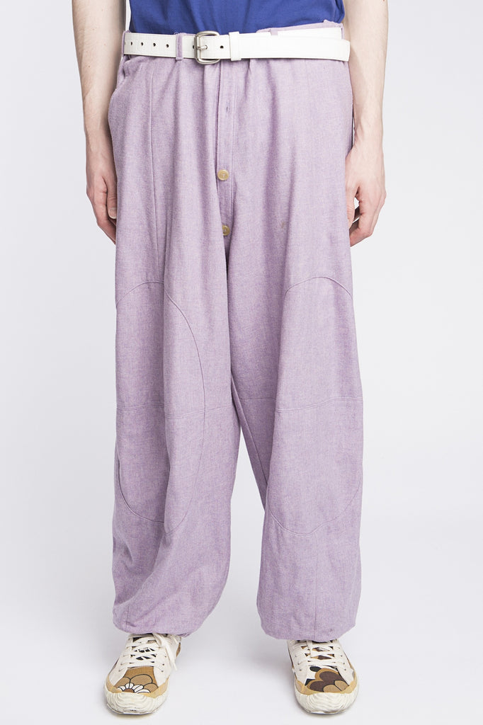 Walter Van Beirendonck <br> Wide Leg Button Crotch Pants