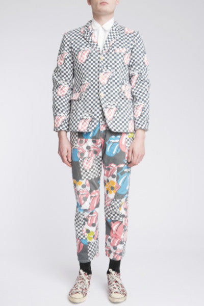 COMME des GARÇONS <br> Patchwork Lip And Tongue Suit