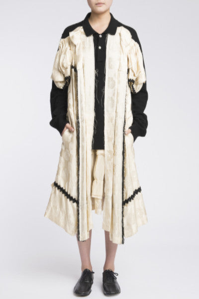 COMME des GARÇONS <br> Cardigan With Silk Dress Attached